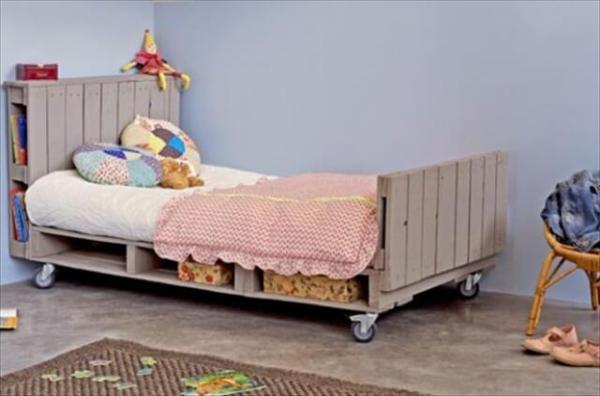 Bed Van Pallets : Kids pallet bed give your kid a refreshing sleep u pallets