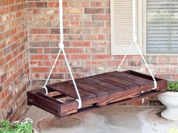 pallet porch swing bench