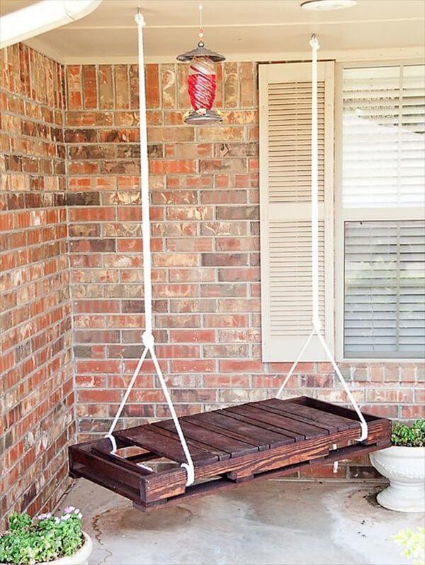 Pallet swing DIY ideas