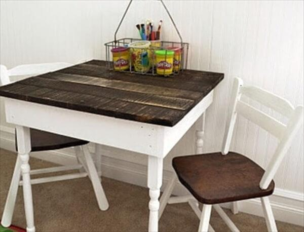 pallet kids table