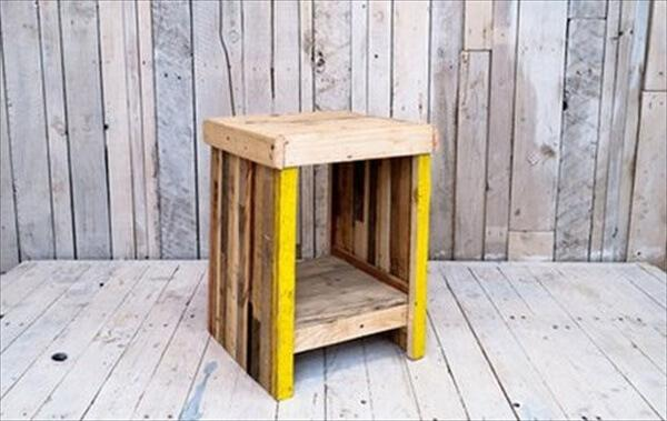 pallet bedside table