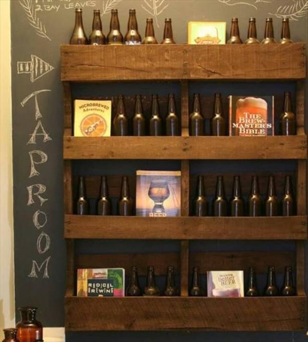 wooden pallet shelves
