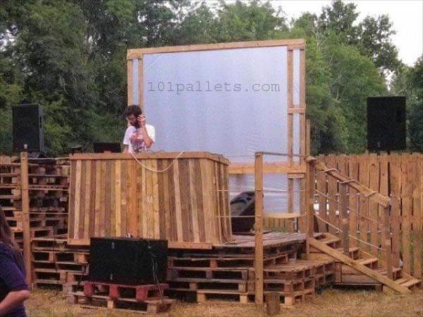 DJ Pallet Stage Garden Party