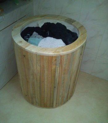 Stylish Pallet Laundry Basket
