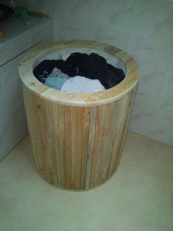 Stylish Pallet Laundry Basket