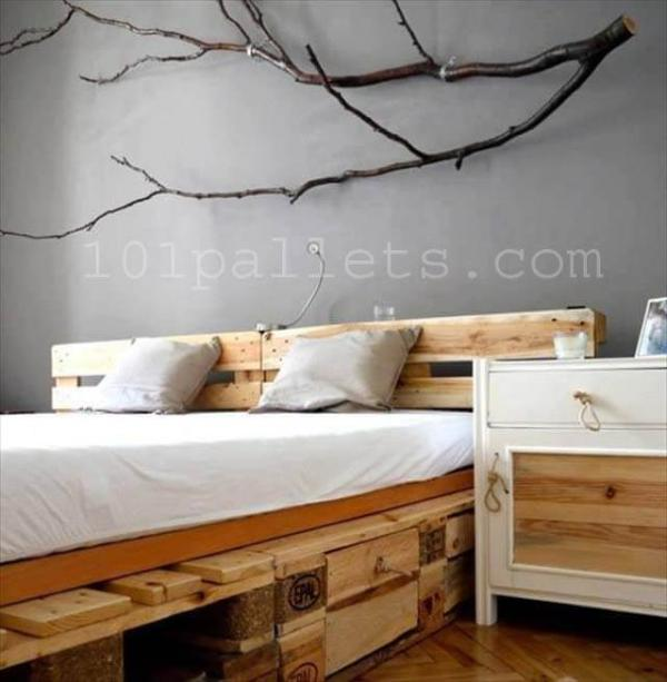 Unique Style Pallets Bed