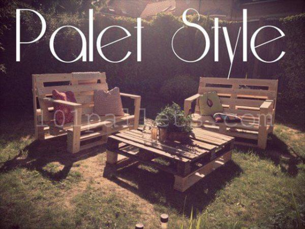 Relaxing Pallet Garden Lounge