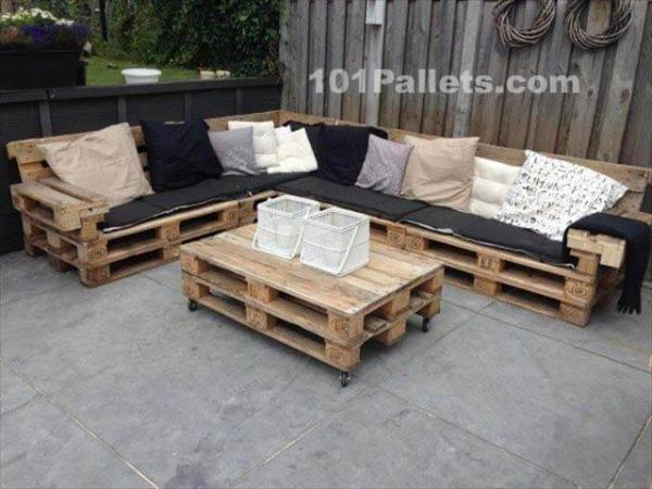 Pallet lounge set