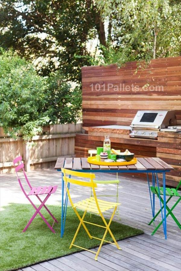 Fantastic Pallet Outdoor Kitchen 101 Pallets