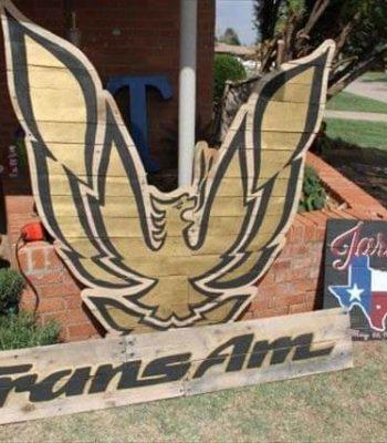 Pallet wood Firebird and Trans Am sign