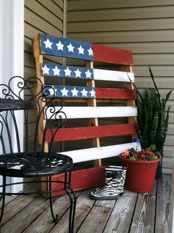 american flag recycled pallet idea