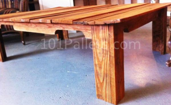 Coffee Table Upcycled from Pallet Wood
