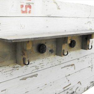 Pallet Shelves with Hooks