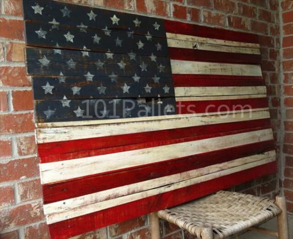 Pallet American Flag