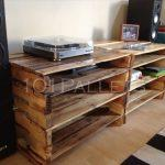 Pallet Media Console Table