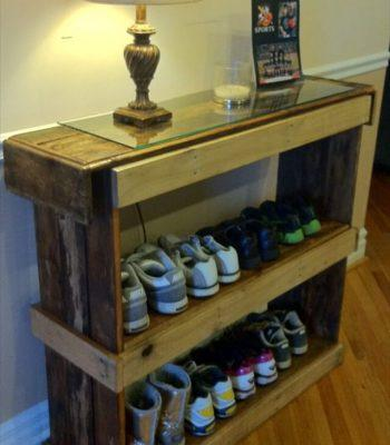 Rustic Shoe Shelf or Bookcase - Pallet Furniture