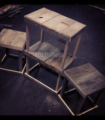 3 Piece Set of Pallet Wood Tables