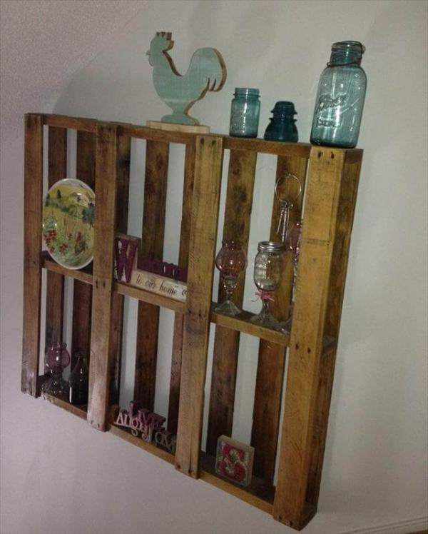 Pallet Wood Shelf: 25 DIY Pallet Shelves For Storage Your Things
