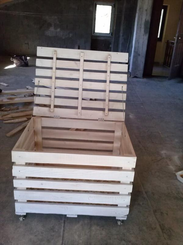 Diy Wooden Pallet Storage Box 101 Pallets