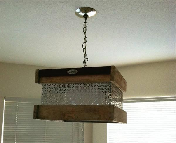 Pallet Pendant Light