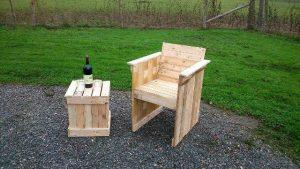 Pallet Chair, Table and Planter