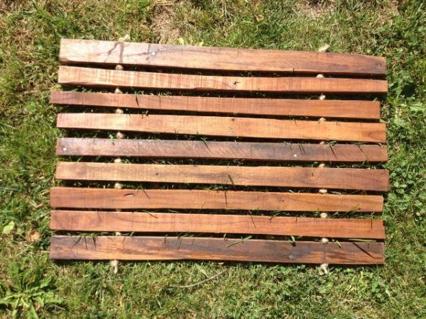 outdoor pallet mat