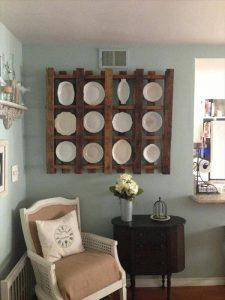 Pallet Plate Rack for Kitchen DIY