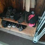 DIY Pallet Shoe Storage