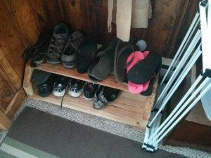 DIY Pallet Shoe Storage