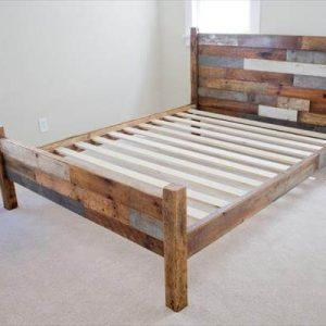 Pallet and Barn Wood Queen Bed