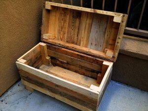 Rugged Two-in-One Pallet Chest and Bench