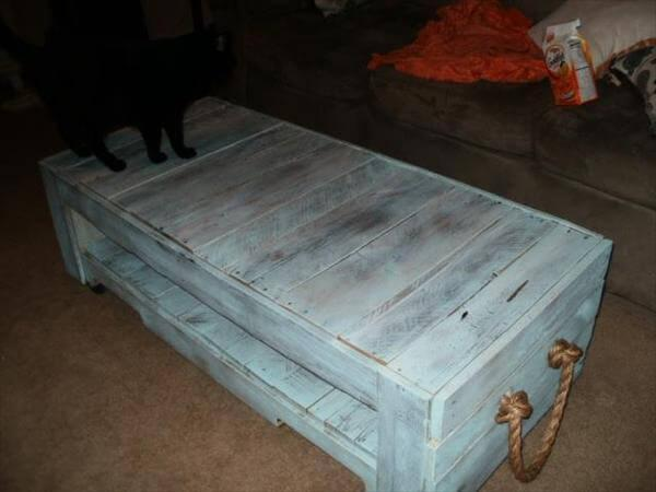 Recycled Pallet Coffee Table Art