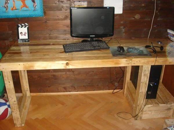 DIY Pallet Computer Desk