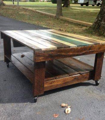 Pallet Table with Wheels