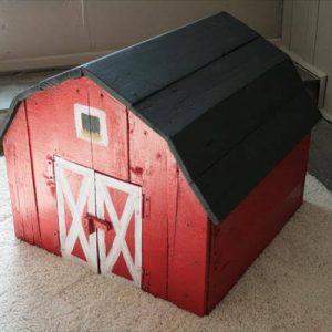 DIY Pallet Toy Barn with Chalkboard Roof