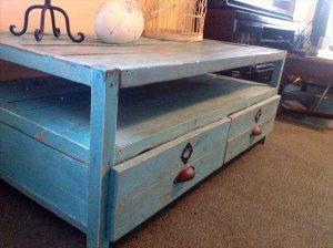 Coffee Table Repurposed from Pallets