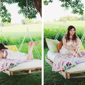 pallet swing bed renovation