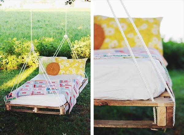 bed swing out of pallet