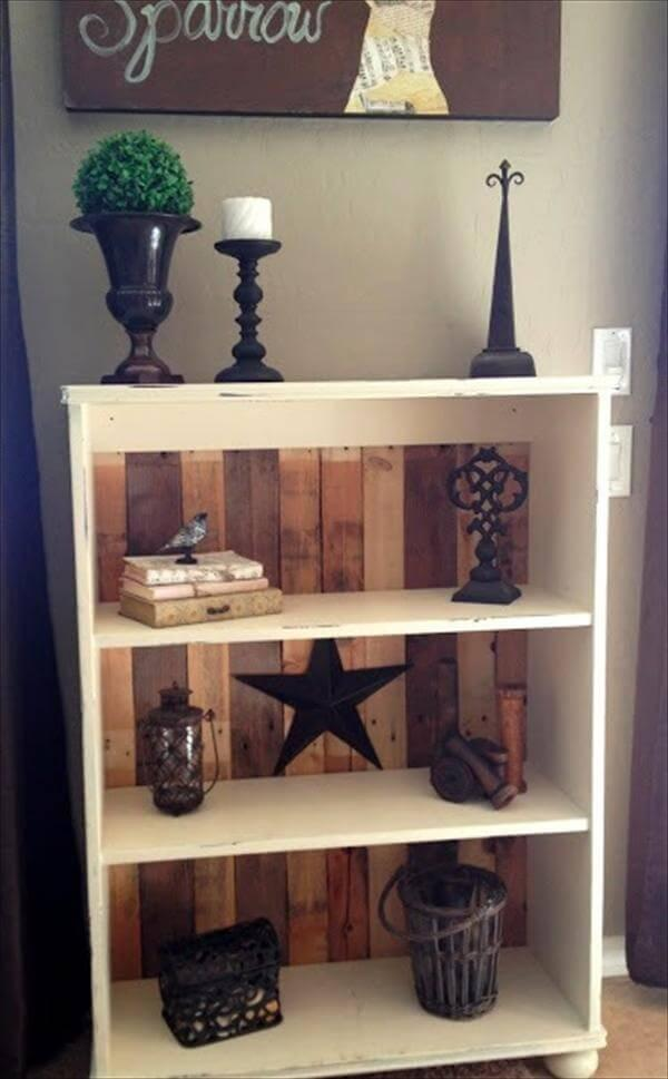 book shelve out of pallet