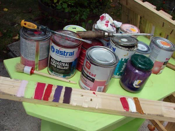 painting of pallets for pallet rack