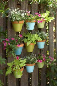 Recycled Pallet Vertical Garden with Pots