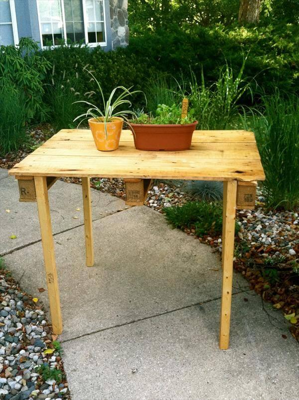 diy pallet garden table