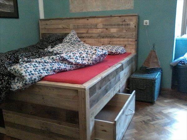 pallet bed makeover