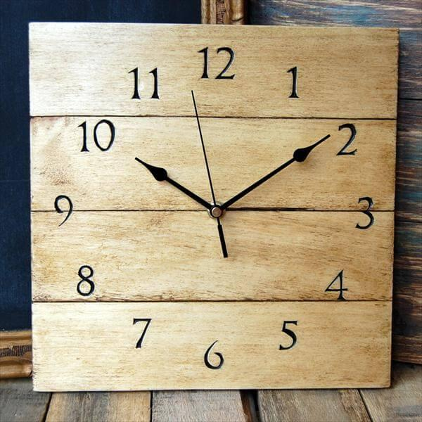 Diy Antique Wooden Pallet Wall Clock 101 Pallets