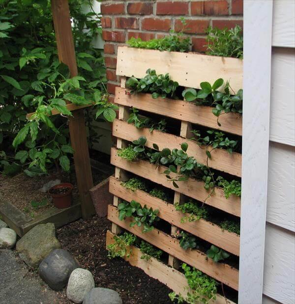 Diy Herb Garden Made Of Pallets 101 Pallets