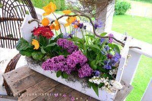 pallet flower planter