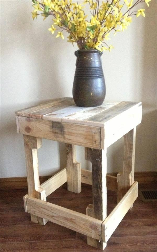 pallet end table ideas 12 DIY Pallet
