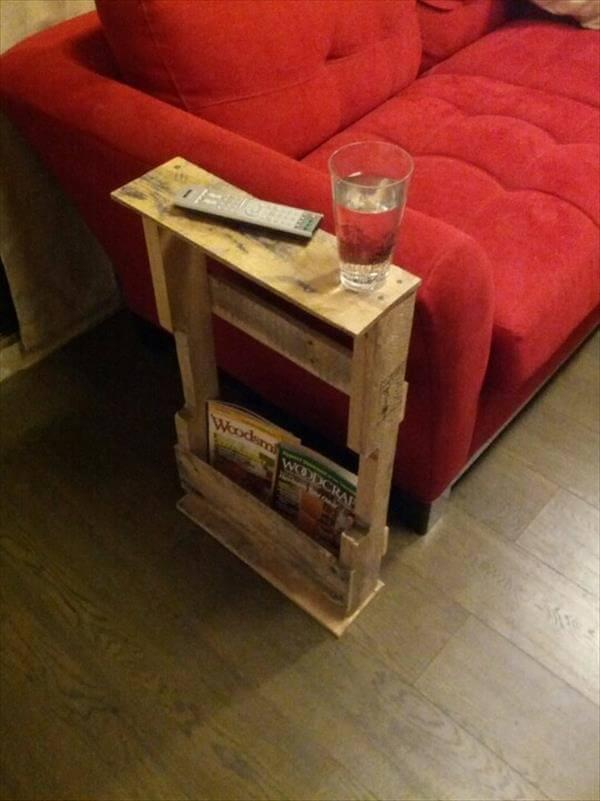 Etonnant Diy Pallet End Table