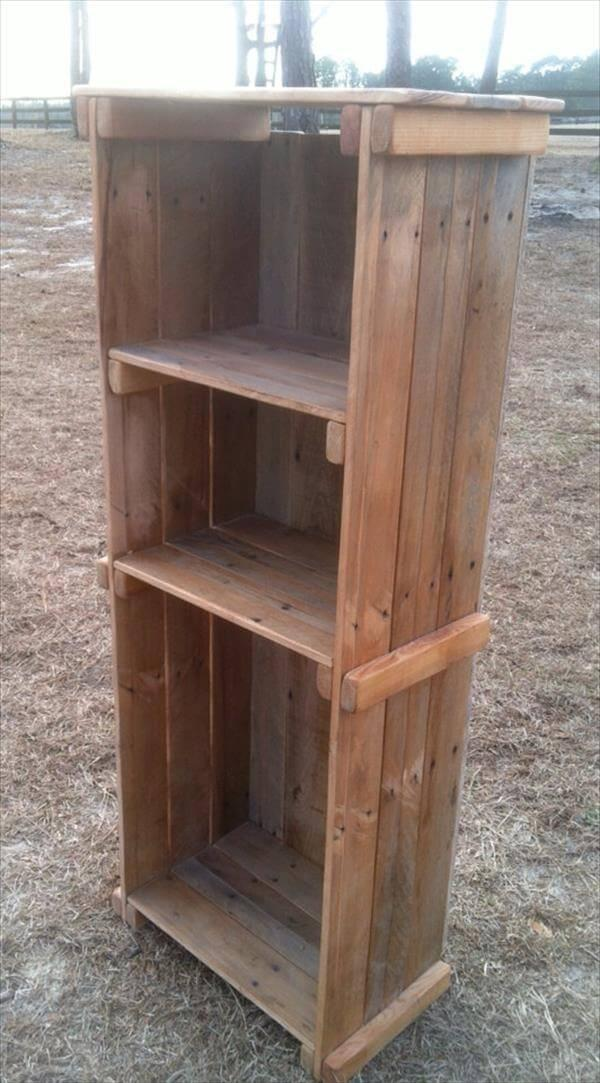 Rustic Bookshelf Out Of Pallets Wood 101