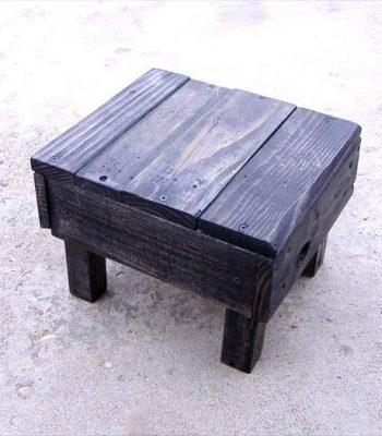 reclaimed pallet stool